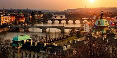 The historical city of Prague in Czech Republic.